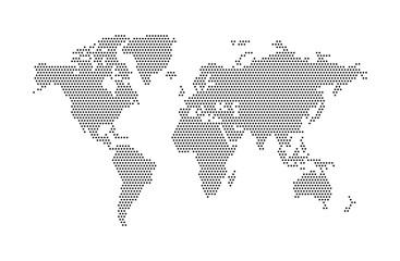 Wall Mural - Abstract vector World map. World map of dot. Vector illustration.
