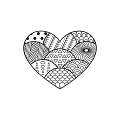 Wall Mural - Vintage Heart. Retro and Vintage Design Heart. Vector illustration.