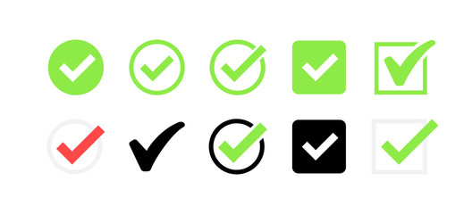 Approved icon. Profile Verification. Accept badge. Quality icon. Check mark. Sticker with tick. Vector illustration. Wall mural