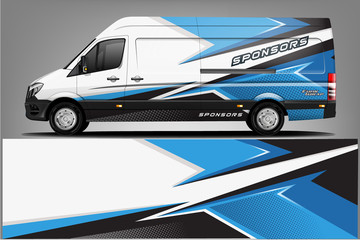 Fototapete - Van wrap design. Wrap, sticker and decal design for company. Vector format