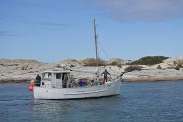 Fishing boat in Bicheno Tasmania Australia