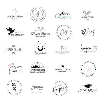 Logo templates set