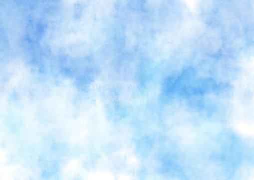 空 雲 青 水彩 テクスチャ 背景