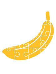 banane puzzle obst essen hunger lecker liebe muster viele puzzlestücke teil puzzlespiel puzzleteil puzzeln form logo spaß bild design cool umriss hobby