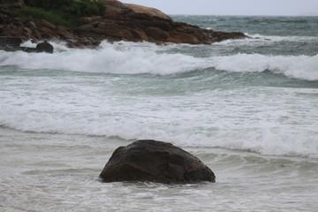 Praia de Quantro ilhas, cidade de Bombinhas, estado de Santa Catarina, País Brasil