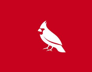 Cardinal Bird Logo Symbol vector Design Illustration
