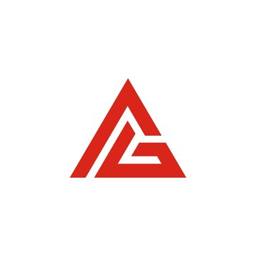 AG initials Triangle Logo Template abstract