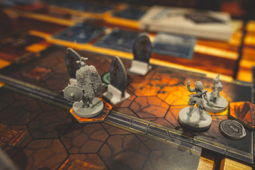 Board game in dungeon