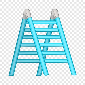 Ladder icon in cartoon style isolated on background for any web design