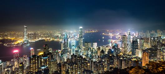 世界三大夜景 香港 ビクトリア・ハーバー ワイド