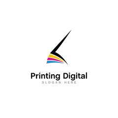 digital printing logo design vector