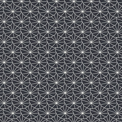 Seamless background with outlined shells. Pattern in minimal style, monochrome.