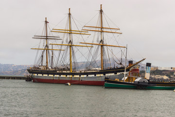 The Balclutha, the old ship in San Francisco Bay