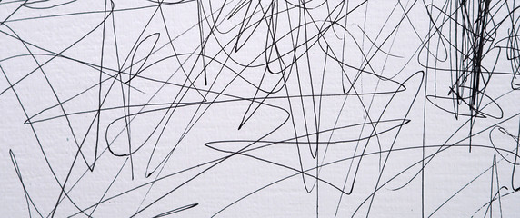 line pencil on white paper abstract background and texture.