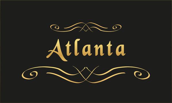 Vector Welcome to Atlanta
