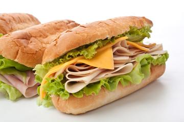 Photo sur Aluminium Snack tasty turkey breast and cheese sandwich