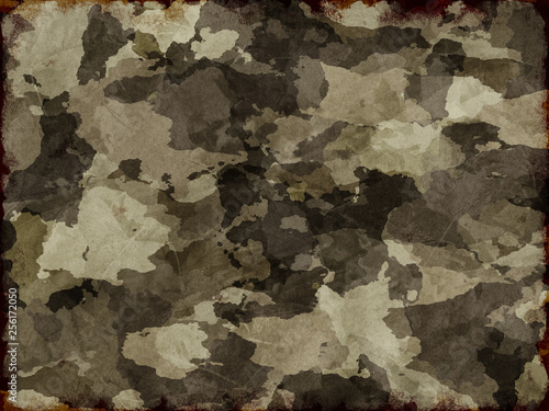 Dirty Camouflage Fabric Texture For Background Stock Photo