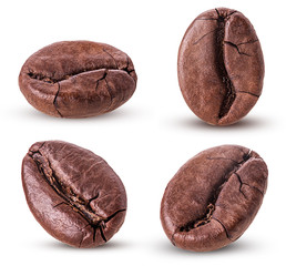 Set roasted coffee beans