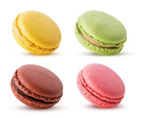 Set sweet colorful macarons