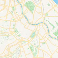 Vienna, Austria printable map