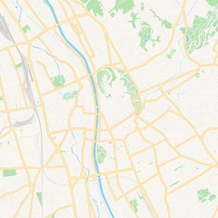 Graz, Austria printable map