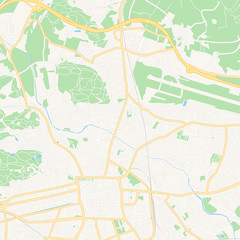 Klagenfurt, Austria printable map