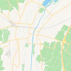 Sankt Polten, Austria printable map