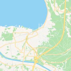Bregenz, Austria printable map