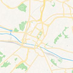 Charleroi, Belgium printable map