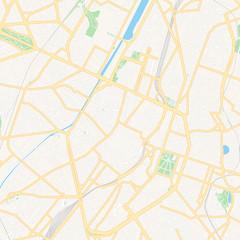 Brussels, Belgium printable map