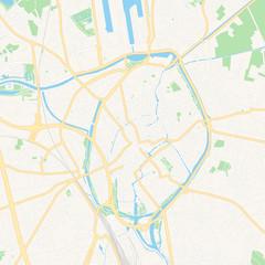 Bruges , Belgium printable map