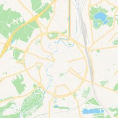 Leuven , Belgium printable map