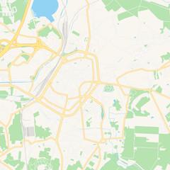 Mons , Belgium printable map