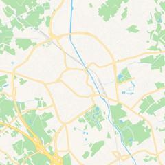 Aalst , Belgium printable map