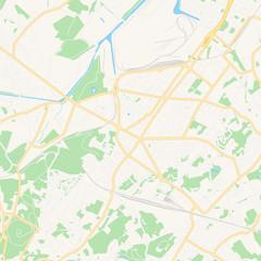 La Louviere, Belgium printable map