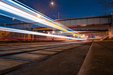light rail night train