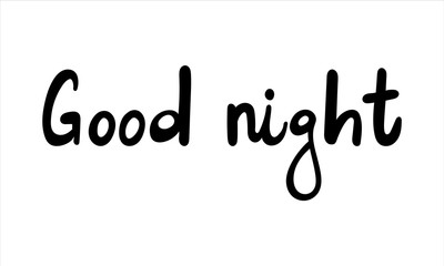 Cute print with lettering. Good night - Vector