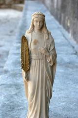 Saint Vincenca statue, Church of All Saints in Blato, Korcula island, Croatia