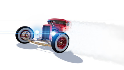 Hot Rod 3D render