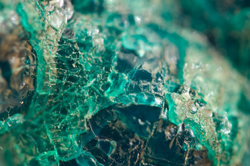 Turquoise natural texture from natural material. Crystals. Macro. Abstract background Wall mural