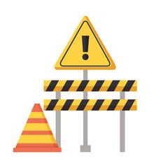 construction barricade warning sign cone