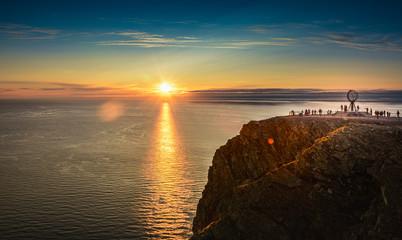Midnight sun, Nordkapp, Norway