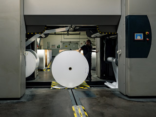 Papierrollen Druckerei