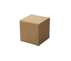 Brown Cardboard Cube