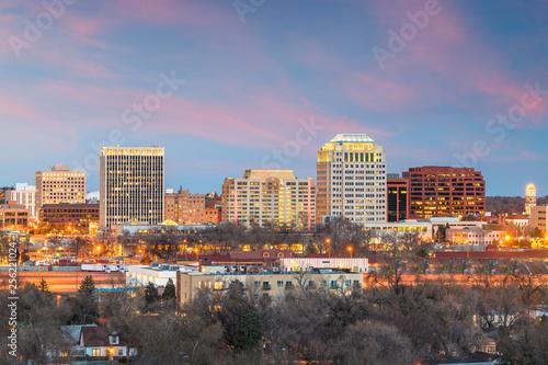 Fototapete Colorado Springs, Colorado, USA downtown city skyline