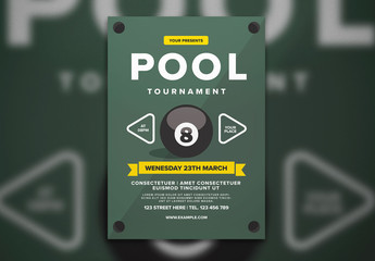 Billiard Tournament Flyer Layout