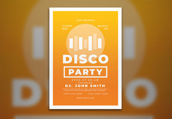 Disco Party Flyer Layout