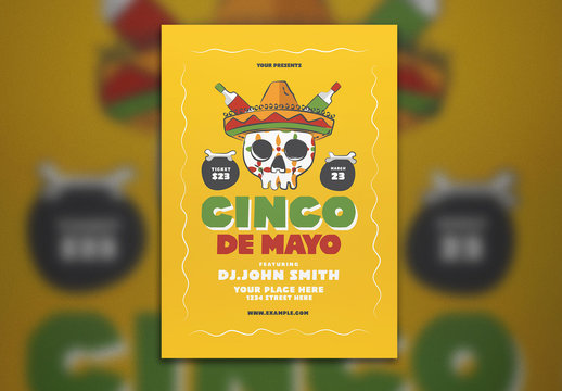 Cinco De Mayo Event Flyer Layout