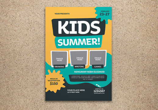 Kids Summer Events Flyer Layout