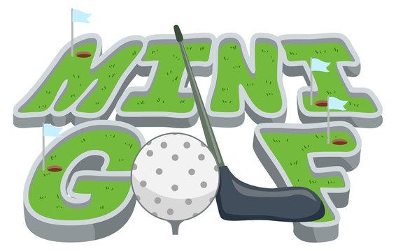 Lettering Mini Golf Illustration